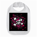 Girly Skull & Crossbones Bib
