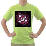 Girly Skull & Crossbones Green T-Shirt