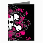 Girly Skull & Crossbones Greeting Card