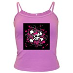 Girly Skull & Crossbones Dark Spaghetti Tank