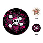 Girly Skull & Crossbones Playing Cards Single Design (Round)