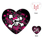 Girly Skull & Crossbones Playing Cards Single Design (Heart)