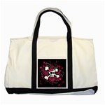 Girly Skull & Crossbones Two Tone Tote Bag