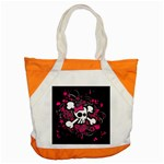 Girly Skull & Crossbones Accent Tote Bag