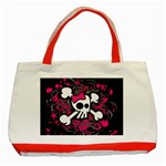 Girly Skull & Crossbones Classic Tote Bag (Red)