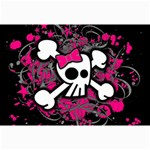 Girly Skull & Crossbones Canvas 12  x 18