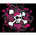 Girly Skull & Crossbones Canvas 16  x 20