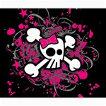 Girly Skull & Crossbones Canvas 20  x 24