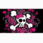 Girly Skull & Crossbones Canvas 40  x 72