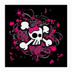 Girly Skull & Crossbones Medium Glasses Cloth (2 Sides)