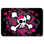 Girly Skull & Crossbones Large Doormat
