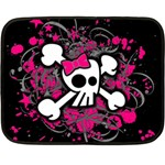 Girly Skull & Crossbones Fleece Blanket (Mini)