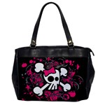 Girly Skull & Crossbones Oversize Office Handbag