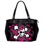 Girly Skull & Crossbones Oversize Office Handbag (2 Sides)