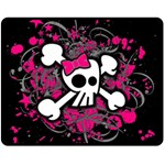 Girly Skull & Crossbones Fleece Blanket (Medium)