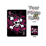 Girly Skull & Crossbones Playing Cards 54 Designs (Mini)