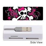 Girly Skull & Crossbones Memory Card Reader (Stick)