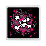 Girly Skull & Crossbones Memory Card Reader (Square)