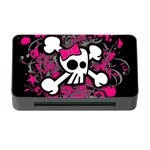 Girly Skull & Crossbones Memory Card Reader with CF