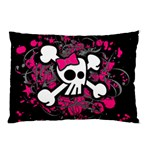 Girly Skull & Crossbones Pillow Case (Two Sides)