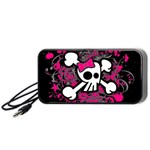 Girly Skull & Crossbones Portable Speaker (Black)