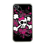 Girly Skull & Crossbones iPhone 4 Case (Clear)