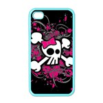 Girly Skull & Crossbones iPhone 4 Case (Color)