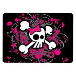 Girly Skull & Crossbones Samsung Galaxy Tab 10.1  P7500 Flip Case