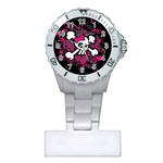 Girly Skull & Crossbones Plastic Nurses Watch