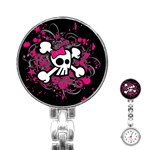 Girly Skull & Crossbones Stainless Steel Nurses Watch