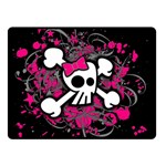 Girly Skull & Crossbones Double Sided Fleece Blanket (Small)