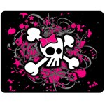 Girly Skull & Crossbones Double Sided Fleece Blanket (Medium)
