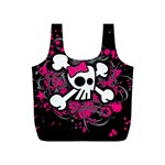 Girly Skull & Crossbones Full Print Recycle Bag (S)