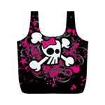 Girly Skull & Crossbones Full Print Recycle Bag (M)