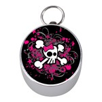 Girly Skull & Crossbones Silver Compass (Mini)