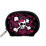 Girly Skull & Crossbones Accessory Pouch (Small)