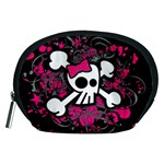 Girly Skull & Crossbones Accessory Pouch (Medium)