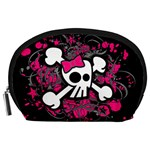 Girly Skull & Crossbones Accessory Pouch (Large)