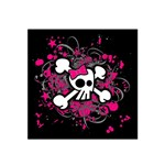 Girly Skull & Crossbones Satin Bandana Scarf