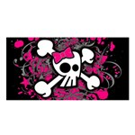 Girly Skull & Crossbones Satin Shawl