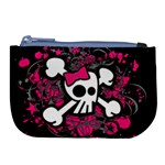 Girly Skull & Crossbones Large Coin Purse