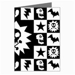 Gothic Punk Skull Greeting Cards (Pkg of 8)