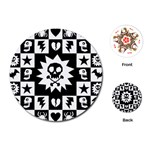 Gothic Punk Skull Playing Cards Single Design (Round)
