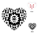 Gothic Punk Skull Playing Cards Single Design (Heart)