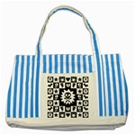 Gothic Punk Skull Striped Blue Tote Bag