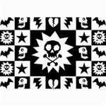 Gothic Punk Skull Canvas 12  x 18