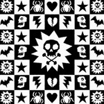 Gothic Punk Skull Canvas 20  x 20