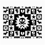 Gothic Punk Skull Small Glasses Cloth (2 Sides)