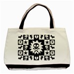 Gothic Punk Skull Basic Tote Bag (Two Sides)
