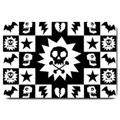 Gothic Punk Skull Large Doormat from ArtsNow.com 30 x20  Door Mat